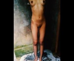 Sri lankan girl bathing..